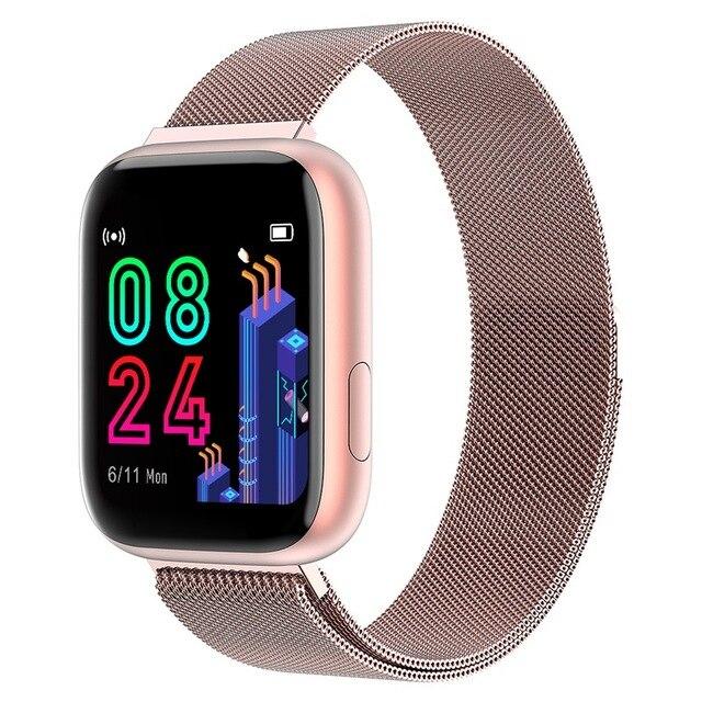 P4 Smart Uhr Frauen Männer 1,4 Zoll Full Touch Bildschirm IP67 Wasserdichte Smartwatch Herz Rate Monitor PK P68 P70 P80 für Xiaomi