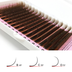 Image 4 - NAGARAKU pestañas postizas de visón sintético Natural, 5 cajas, Color marrón