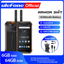 Téléphone portable robuste Ulefone Armor 3WT talkie-walkie 6GB 64GB 10300mAh 21MP NFC Octa Core Android 9.0 4G Globalvision Smarphone(China)