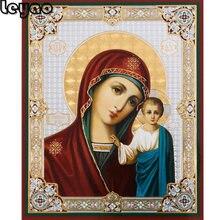 5d квадратная круглая алмазная живопись, Дева и ребенок Казани, православная христианская икона, мозаика, распродажа