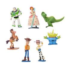 7pcs/set Toy Buzz Lightyear Woody Bo Peep Jessie Bullseye Action Figure Toys B643 цены