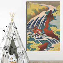 Poster Vintage Katsushika Hokusai Canvas Painting Print Living Room Home Decoration Modern Wall Art Oil Painting Posters Picture