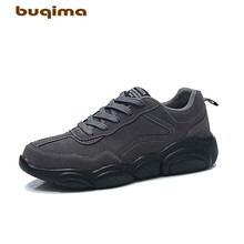Buqima mens sports shoes casual running bear soles comfortable and lightweight