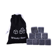 Cubo de gelo natural uísque, pedras de gelo do vinho, rock uísque, para presente de casamento e natal, 9/6 peças ferramenta de louça