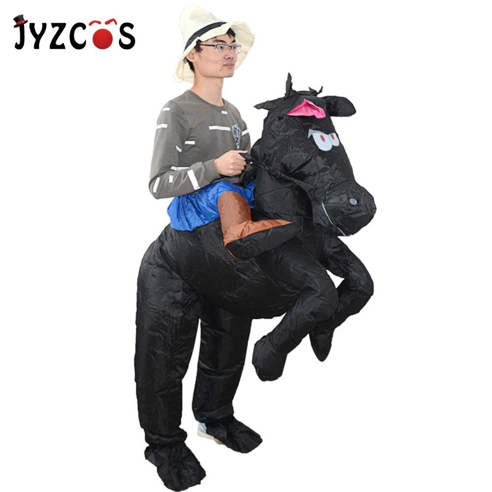 Girls Boys Step in Ride On Unicorn Inflatable Animal Fancy Dress Costume Outfit