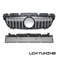 GT Style Front Bumper Racing Grille Upper & Lower 2 pieces For Mercedes Benz SLK class SLK 250 350 200 R172 2011 2015