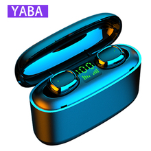 Sports Headset Earphones Ear-Buds Tws Bluetooth Android Charge-Box YABA Wireless
