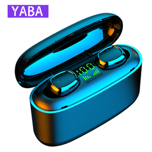 YABA TWS Bluetooth Earphones 5.0 Wireless Headphones Charge Box Sports Headset Ear Buds with Dual Microphone for IPhone Android