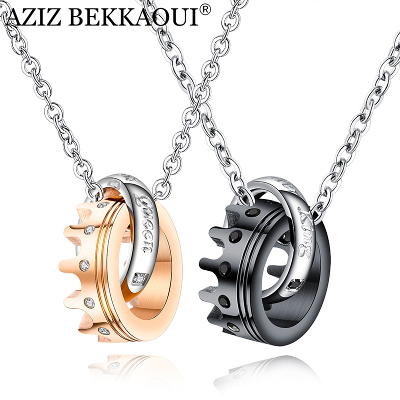 "1Pair /""Her King /& His Queen/"" Men Women Couples Promise Necklaces Pendants Unisex"