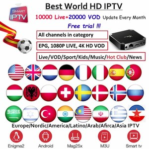 X96mini IPTV Subscription for Europe Germany Dutch Poland French ES Sweden Nordic USA Arabic Indian Albania m3u android Engima2(China)