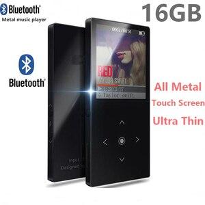 Image 3 - Nowy odtwarzacz MP3 Bluetooth metalowy przycisk dotykowy obsługa karty SD bezstratny odtwarzacz muzyczny MP3 HIFI z radiem FM, dyktafonem, e bookiem