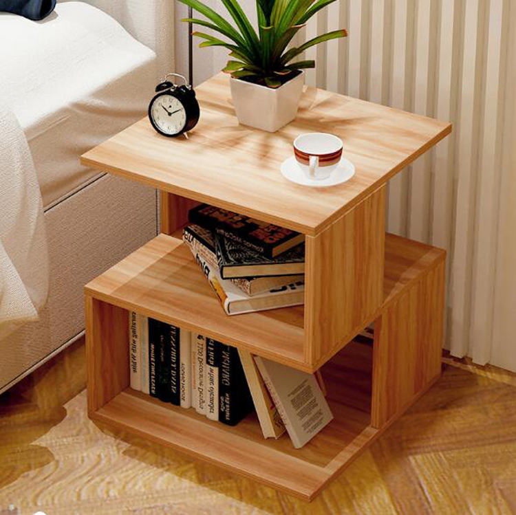 Creative Sofa Side Table Bedside Table Modern End Side Coffee Table With Storage Shelf Living Room Bedroom Furniture