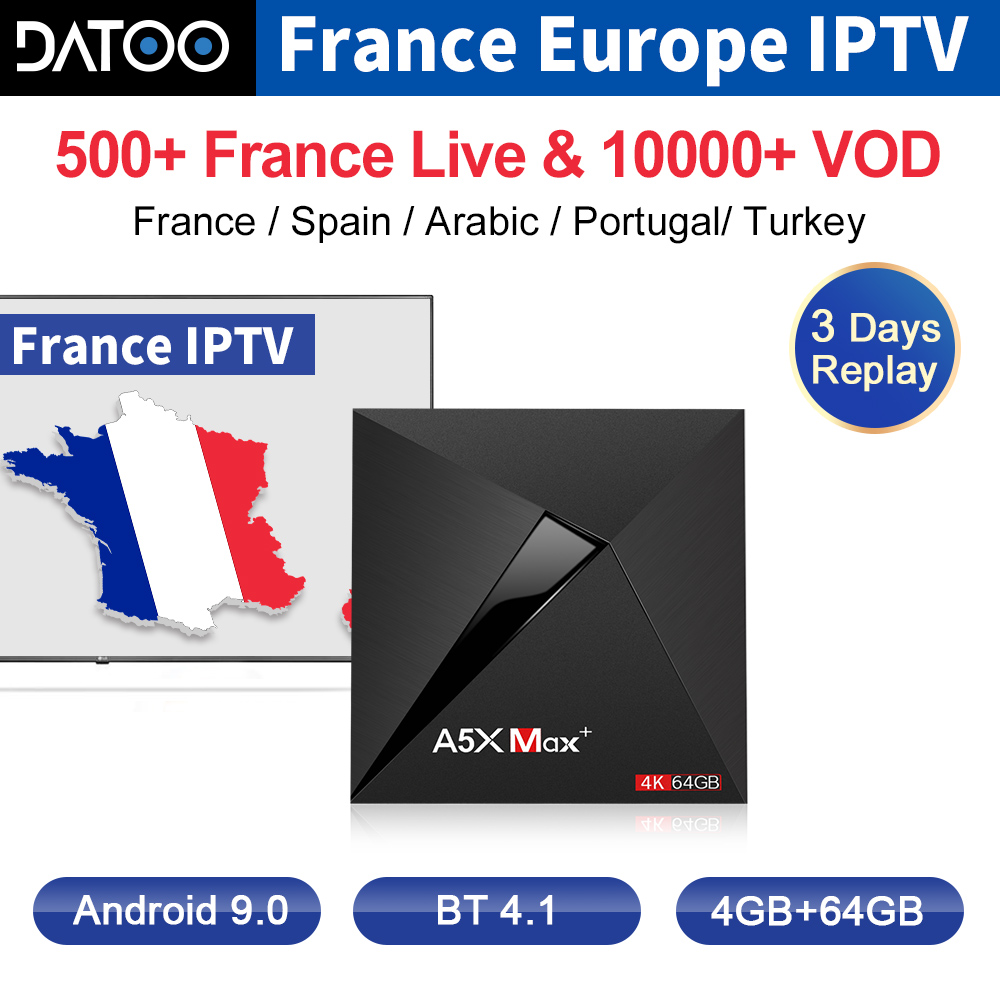 IPTV France Arabic Qatar IP TV A5X MAX Android 9 0 TV Box Spain Turkey IPTV Subscription Germany Belgium IPTV Italy French IP TV in Set top Boxes from Consumer Electronics