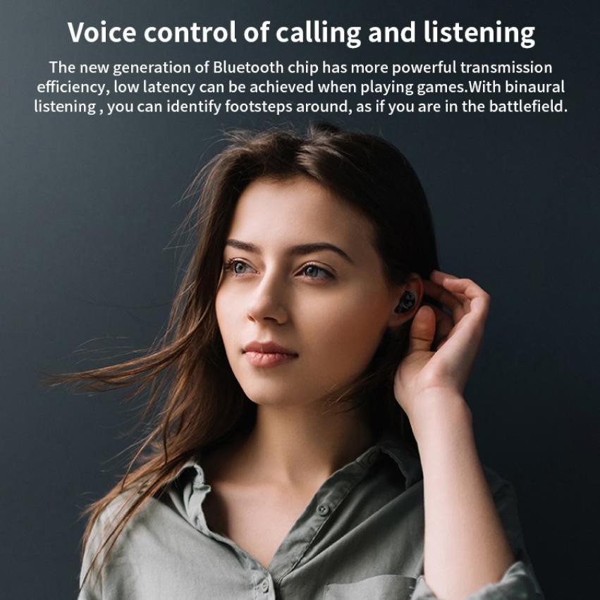 2021 botão tws 5.0 fones de ouvido