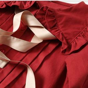 Image 5 - 女の子 2020 秋冬新子供綿ドレスベビープリンセスドレス綿幼児のドレス気質弓、 #5314