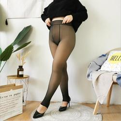 Большие размеры плюс бархат 330 г утолщенные теплые зимние бархатные женские колготки имитация кожи колготки сексуальные колготки толстые ч...