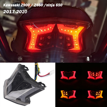Rear Integrated LED Stop Brake Tail light Blinker Indicator Turn Signals For Kawasaki Z900 Z 900 NINJA 650 Z650 17 18 2019 2020
