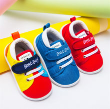 Toddler Kid Baby Boys Shoes Canvas Crib Soft Prewalkers Anti-slip Sneakers Cute lovely Sweet tenis infantil(China)