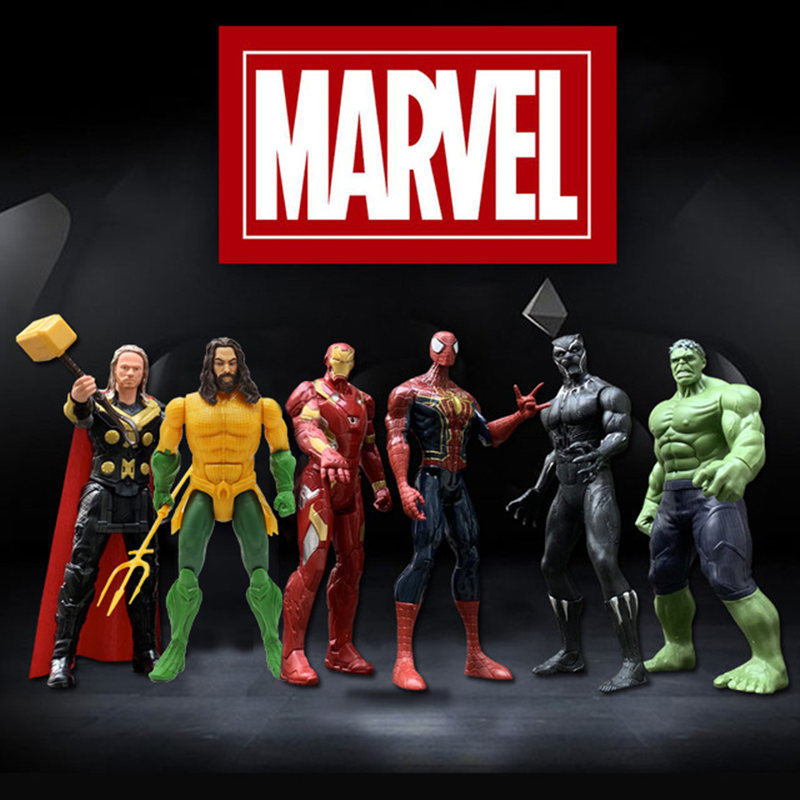 12 ''/30cm Marvel Avengers Batman Flash Superman Aquaman Spiderman Thanos Hulk Iron Man Thor Wolverine Action Figur spielzeug Kind Geschenk