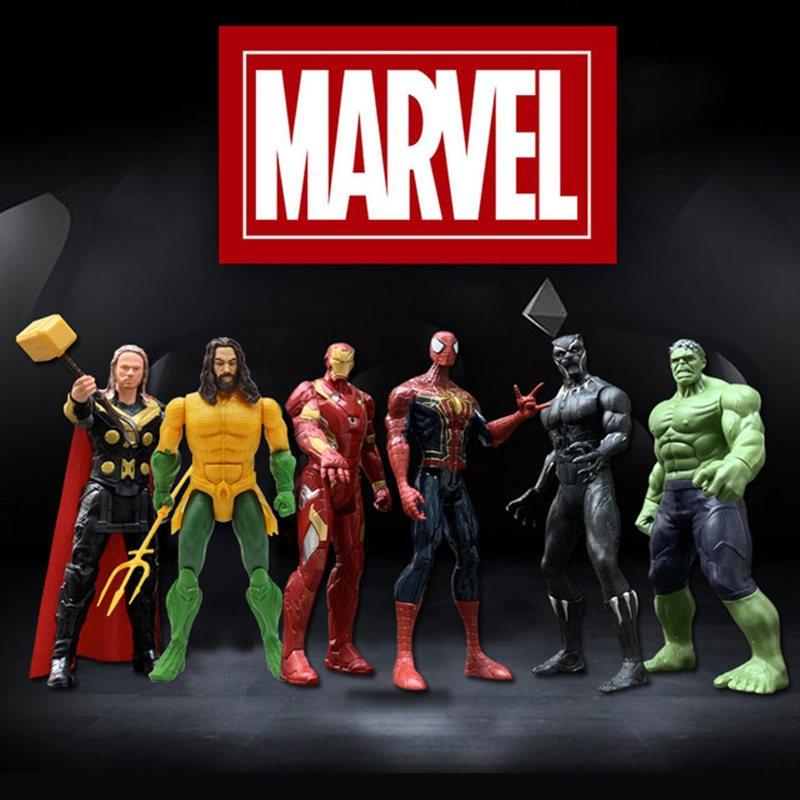 12''/30cm Marvel Avengers  Spiderman Thanos Hulk Iron Man Thor Venom Wolverine Action Figure Toy Kid Gift