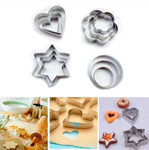 Baking Mould Star Heart Flower Cutter 3pcs/set Stainless Steel Egg Mould Cookie Cutter Biscuit DIY Mold Cake Decorating Tools
