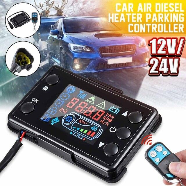 LCD Parkplatz Heizung Monitor Digital Schalter Auto Heizung Gerät Controller Universal für Auto Air Heizung W/4 Taste Remote control