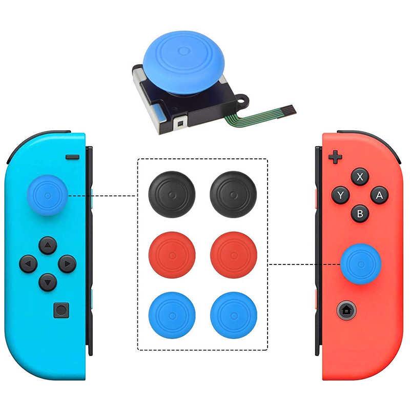 2-Pack 3D Joycon замена джойстика, ABLEWE аналоговый Набор для ремонта большого пальца Joy Con для Nintendo Switch, включая три крыла, крест