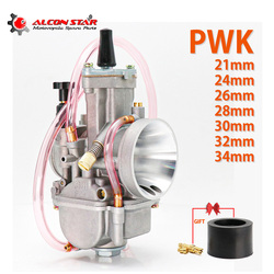 Alconstar- Universal PWK 21 24 26 28 30 32 34 2T 4T Motorcycle Carburetor With Power Jet For Yamaha For Mikuni Koso For ATV