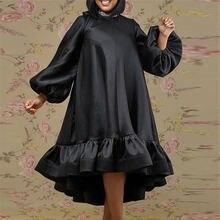 Женские туфли черного цвета свободного кроя с круглым вырезом