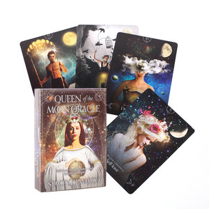 Hot Sell Queen Of The Moon Oracle Cards Durable Fun Board Games Tarot Cards Mystical Guidance Divination Fate Party Card Games