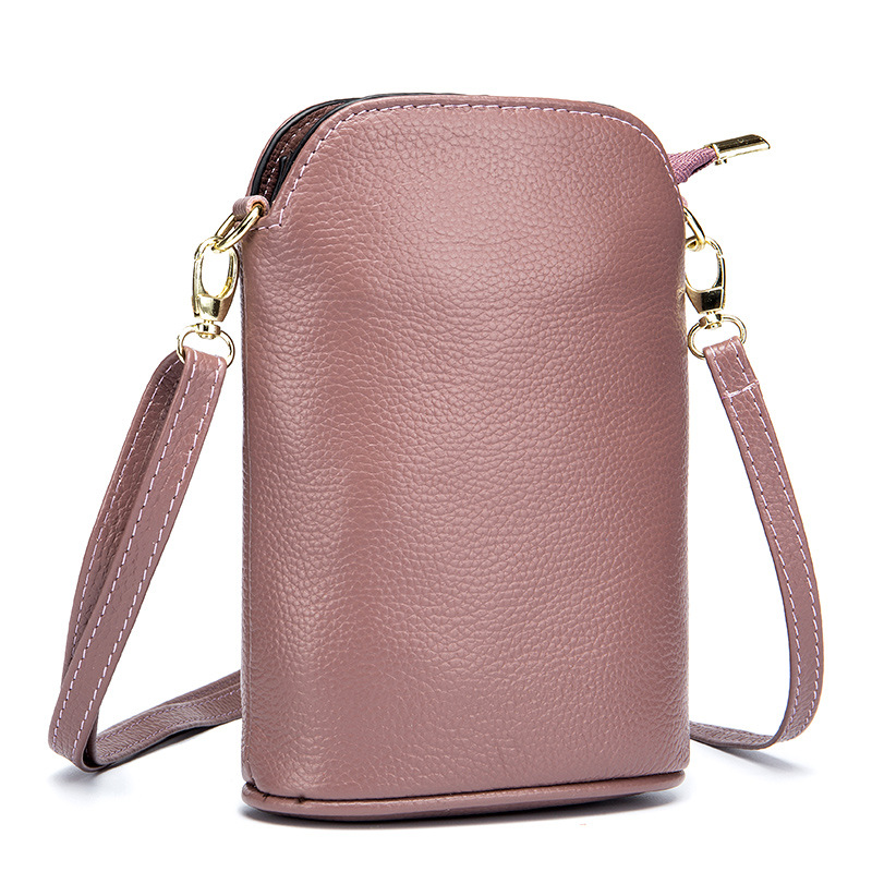 Minimalist Mini Bucket Mobile Phone Bag Women 39 s Real Leather Bag Women Shoulder Bag Young Girl Sling Bag Moda Mujer Messenger in Shoulder Bags from Luggage amp Bags