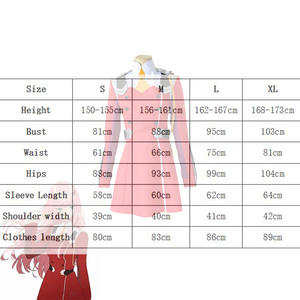 Image 4 - Jupe chérie dans le FRANXX Code002, Costume Cosplay complet, coiffure, coiffure, vêtements dhalloween pour femmes