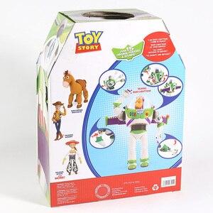 Image 5 - Buzz Lightyear parlante Woody Jessie Rex Bullseye, lámparas de juguete, voces que hablan inglés, figuras de acción móviles articuladas, regalo para niños