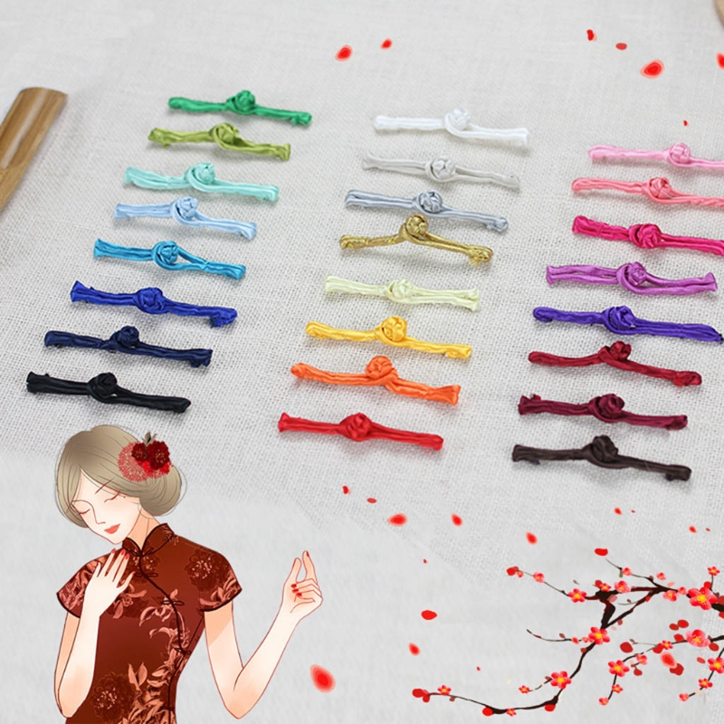 Reasonable 20 Pairs Chinese Tang Suit Handmade Cheongsam Buttons Knot Fastener Closures Diy R9jc Clearance Price