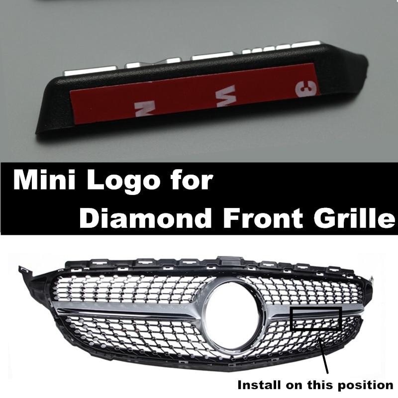 Бесплатная доставка, Алмазная решетка AMG mini с логотипом A B C E Class W176 W246 W204 W205 W212 W213, Решетка переднего бампера подходит для всех моделей автомо...