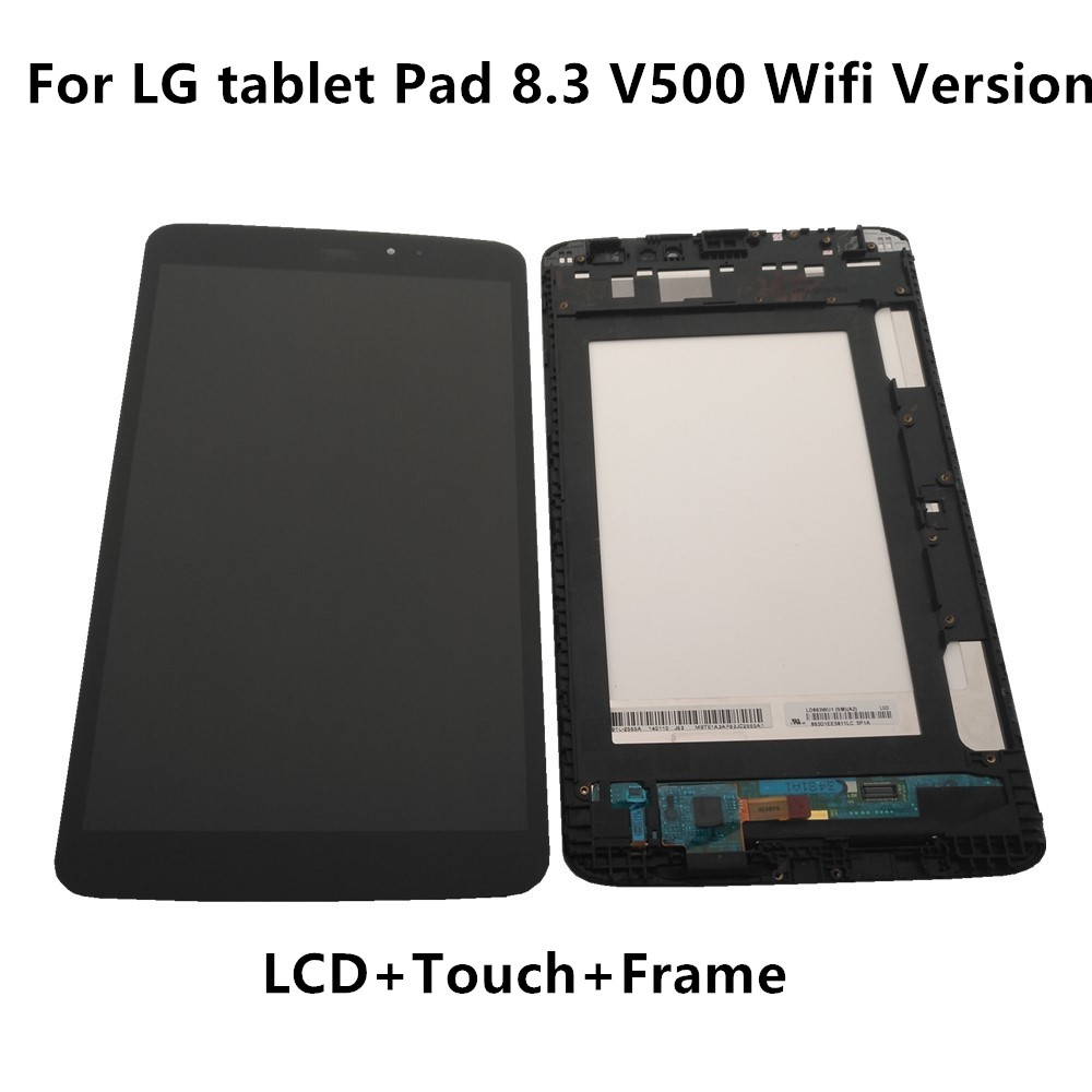 Original LCD For <font><b>LG</b></font> tablet Pad 8.3 <font><b>V500</b></font> Wifi Version LCD Display+ <font><b>Touch</b></font> <font><b>Screen</b></font> Digitizer Assembly For <font><b>LG</b></font> <font><b>V500</b></font> Display With Frame image