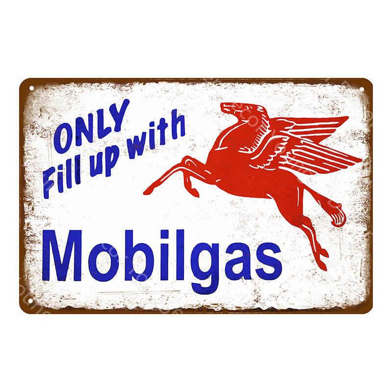Motor Öl Plaque Benzin Zinn Zeichen Vintage Metall Poster Retro Garage Decor Retro Bar Pub Gas Station Dekorative Wand Platte
