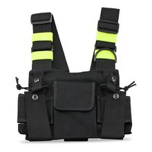 Radios Pocket Radio Chest Harness Chest Front Pack Pouch Holster Vest Rig Carry Case for 2 Way Radio Walkie Talkie for Baofeng#8
