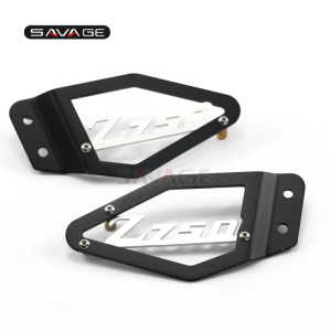 Image 1 - Front Foot Peg Heel Plates Guard Protector For KAWASAKI Z750 Z750R Z 750/750R 2007 2012 2011 12 Motorcycle Accessories Aluminum
