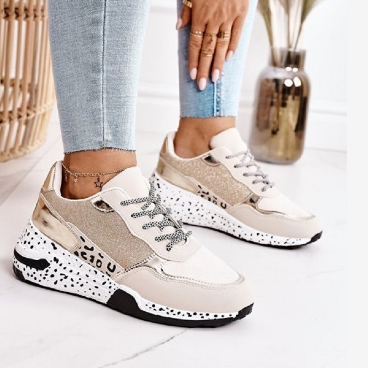 Women Sneakers 2021 Leopard Print Lace Up Women's Vulcanize Shoes Platform Sports Ladies Sneakers Breathable Plus Women Shoes Women's Vulcanize Shoes  - AliExpress