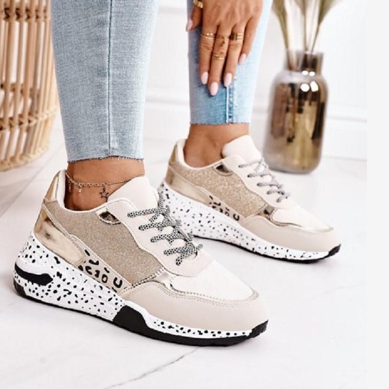 Women Sneakers 2021 Leopard Print Lace Up Women's Vulcanize Shoes Platform Sports Ladies Sneakers Breathable Plus Women Shoes