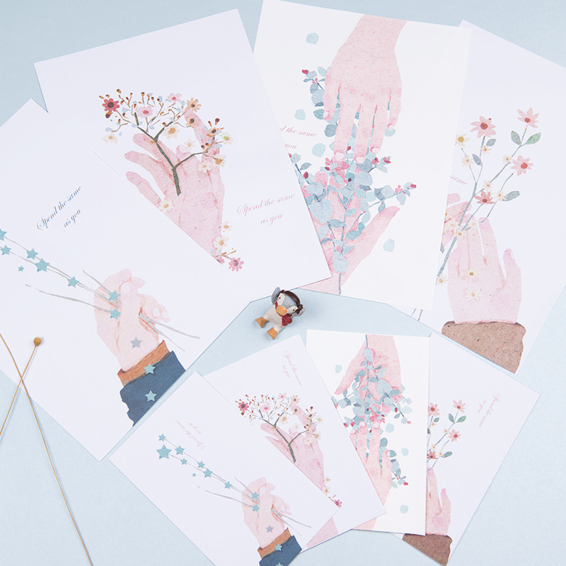 South Korea Literature And Art Confession Writing Paper Envelop Package Flower Like Of You Romantic Love Letter 3 Envelope-6 Wri