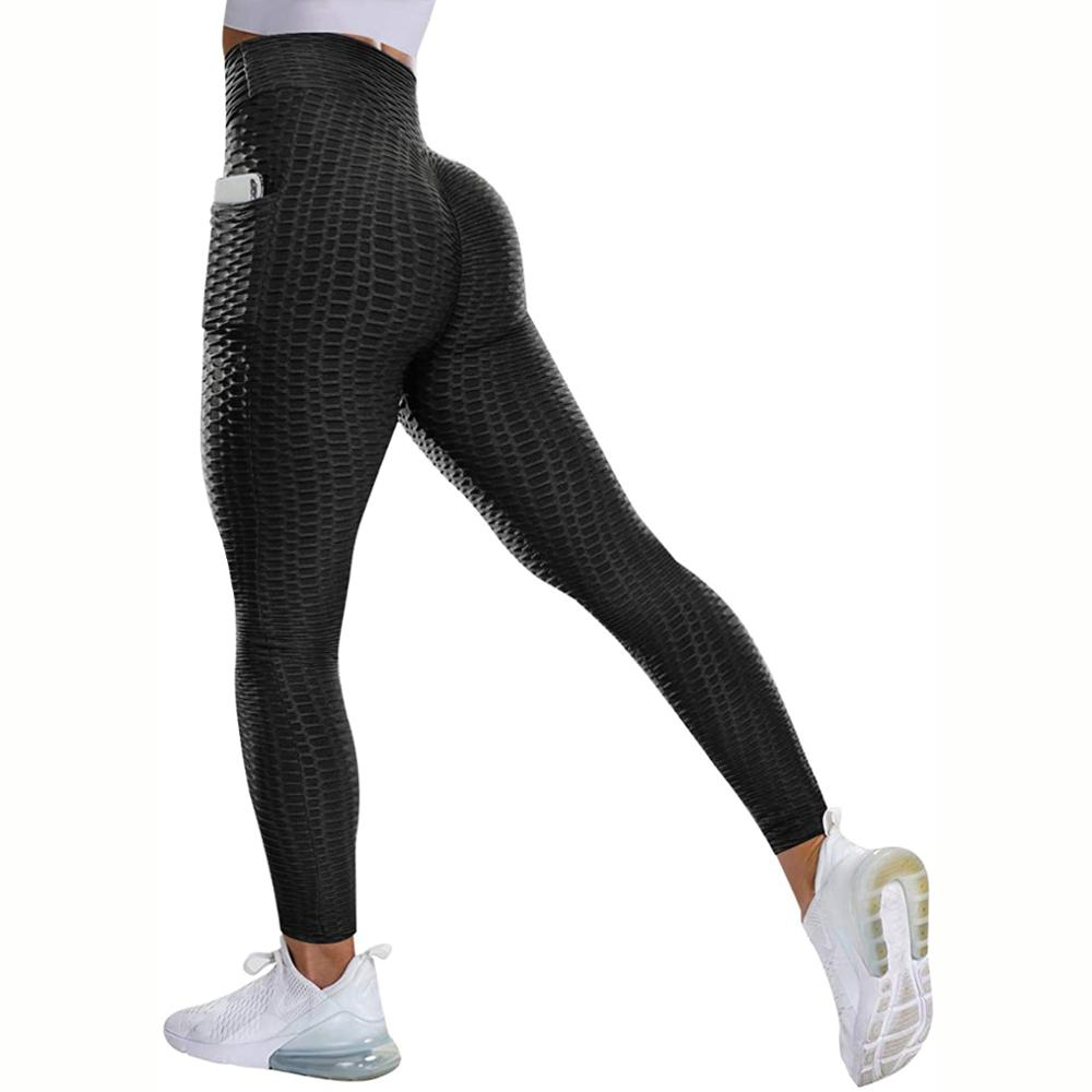 Women High Waist Leggings With Pocket No See Through Thick Sport Fitness Legging Butt Lifting Seamless Panties Workout Gym Pants