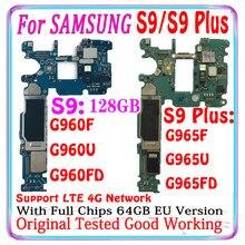 Entsperrt Motherboard Für Samsung Galaxy S9 Plus G965F G965FD S9 G960F G960FD G960U 128g Logic Board Voll chips Android installiert