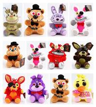 15-18cm FNAF 4 toy Plush das Cinco Noites No Freddy Freddy Foxy Chica Bonnie Suave Stuffed dolls caçoa o Presente(China)