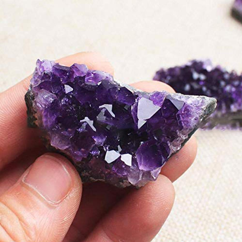 1pcs 40-60g Natural Amethyst Crystal Quartz Drusy Geode Cluster Healing Stone Decoration Ornament Purple Feng Shui Stone