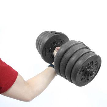 1 zestaw PE waga hantle zestaw Fitness hantle odpinany hantle Arm trener mięśni ćwiczenia domowe do treningu ciała (10kg) tanie i dobre opinie VORCOOL Spray-farby dumbbell Hantle gumowe powleczony materiałem Ciało over 2000g