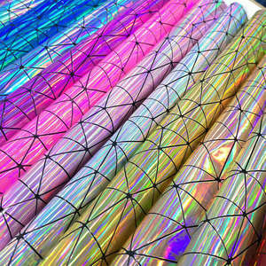 Fabric-Bag Jewelry-Clothing Craft Laser Sewing-Material Geometric-Iridescent Holographic