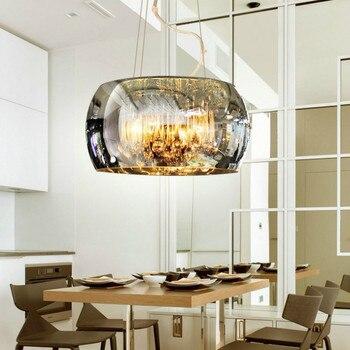 Nowoczesny minimalistyczny LED salon jadalnia lampka do sypialni willa lampa hotelowa luksusowe szklane pokrycie kryształowy żyrandol LB12207