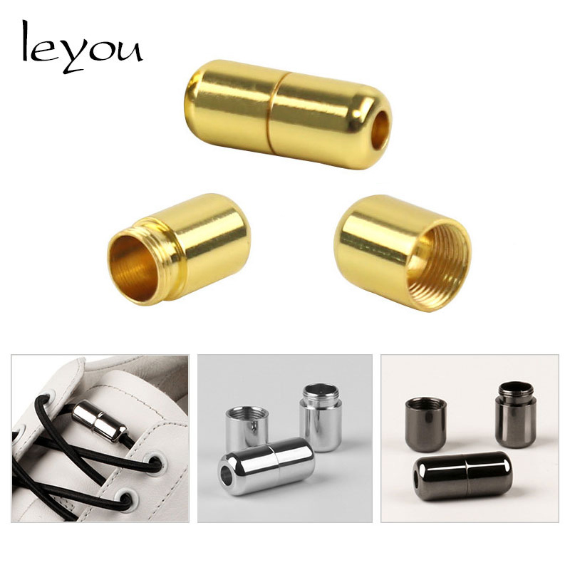Leyou Shoelace Buckle Stopper Decoration Metal Stoppers Cord Toggles Clip Shoelaces Lock Shoelace Tightene Bag Parts Accessories